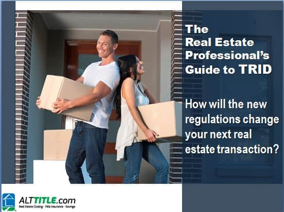 ALT Guide to TRID for real estate professionals