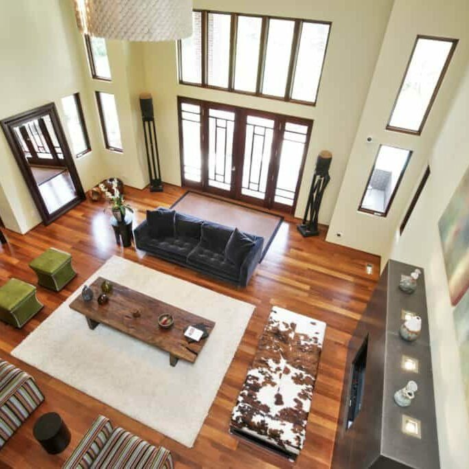 Birds eye of hardwood floors